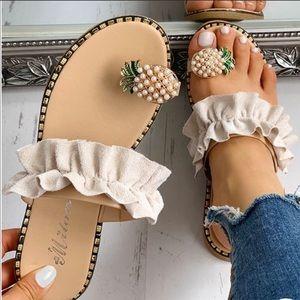 Pineapple Ruffle Sandals 🍍